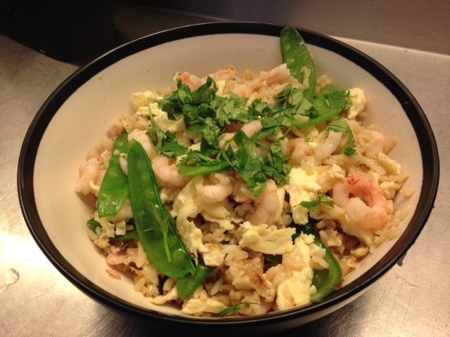 ris og rejer opskrift